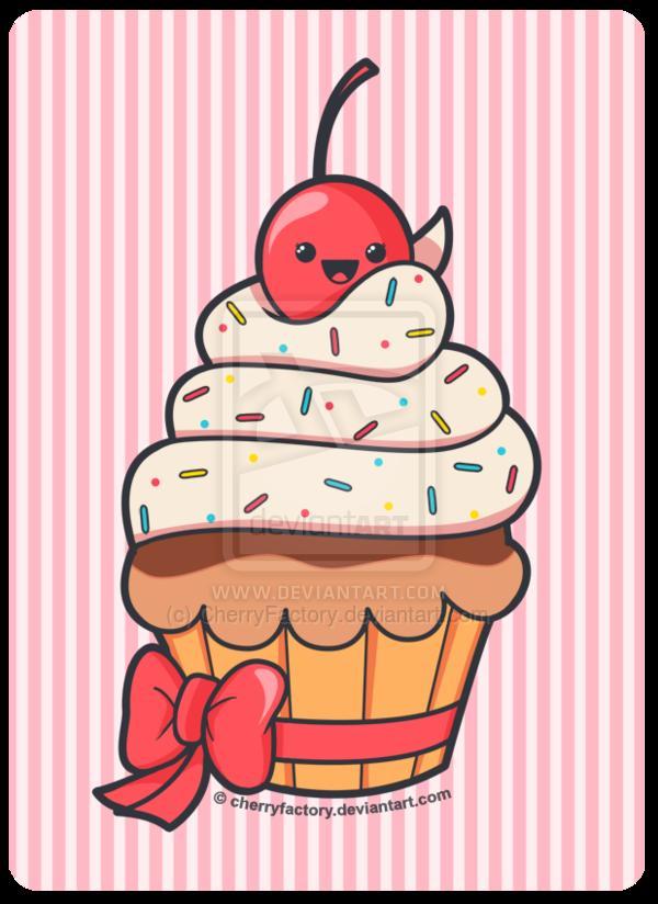 graphic transparent stock Cute Cupcake