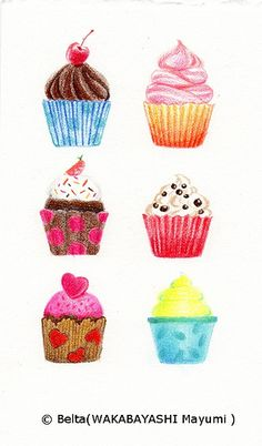 banner black and white drawing cupcakes detailed #134347944