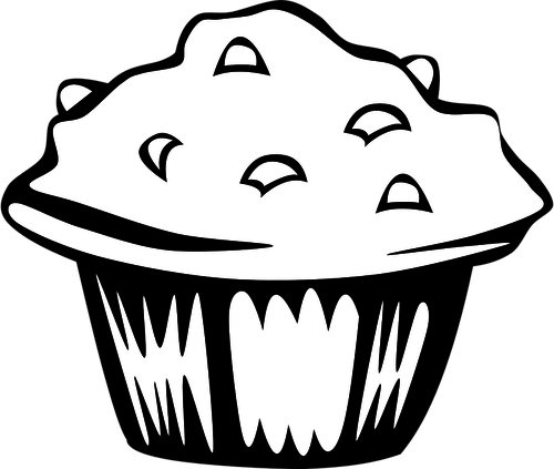 clipart Blueberry Muffin Drawing at GetDrawings
