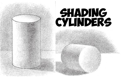 picture black and white download Wk shade a cylinder. Drawing cylinders light source