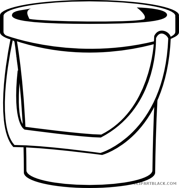 jpg black and white stock Collection of free Bucket drawing outline
