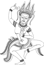 graphic royalty free download Drawn Dance apsara