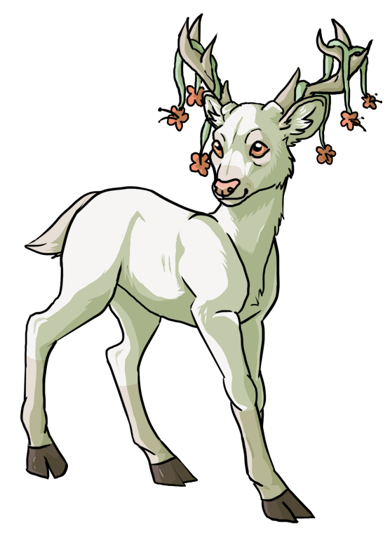 clipart royalty free library Drawing deer baby. Suddenly anime by wolvenbird