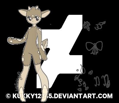 vector transparent download CHEAP Deer Anthro Chibi Bid