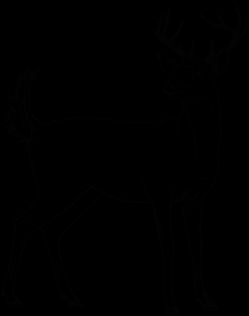 royalty free stock Deer sketch by Danilu