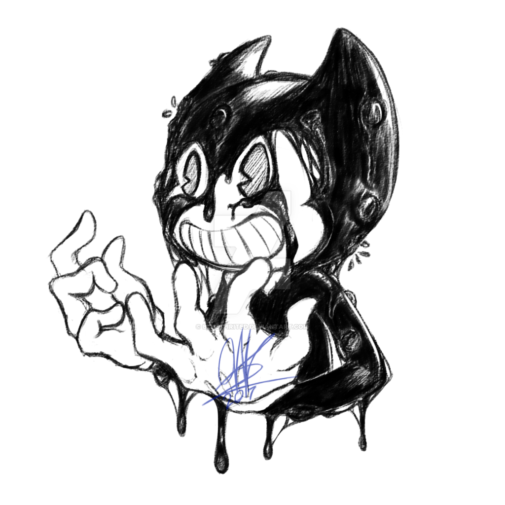 clip black and white library Bendy The Ink Demon by BlueSpirited on DeviantArt