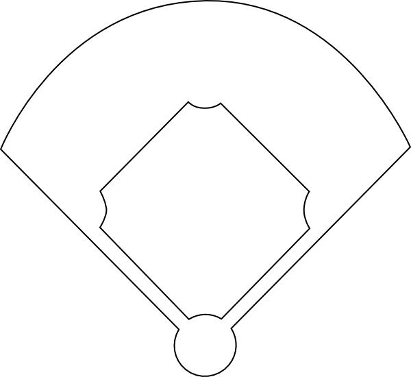 clip art transparent Blank field diagram group. Baseball diamond clipart black and white