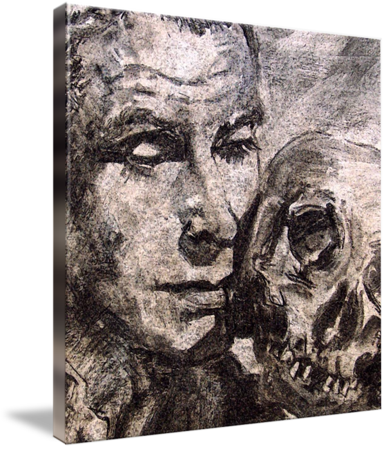 graphic transparent stock Hamlet Laurence Olivier Charcoal by Ginette by Ginette Callaway