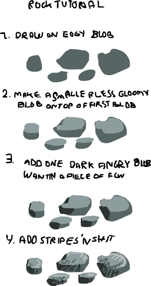 clip art freeuse stock Drawing technique artist. Rock tutorial by griffsnuff