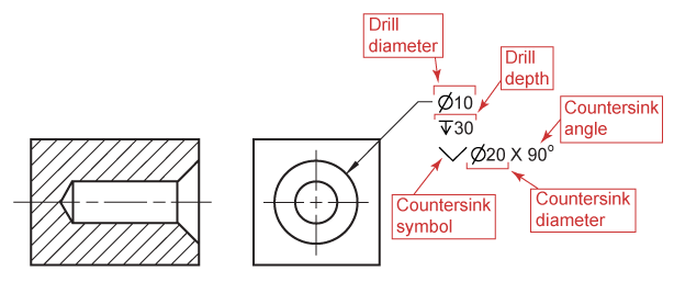 black and white download Drawing dimensions hole. Dimensioning and locating advanced