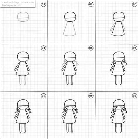 image black and white library How to draw a. Drawing random basic