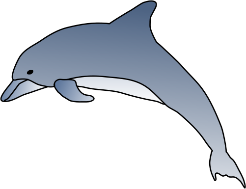 svg free stock drawing dolphins simple #111734909