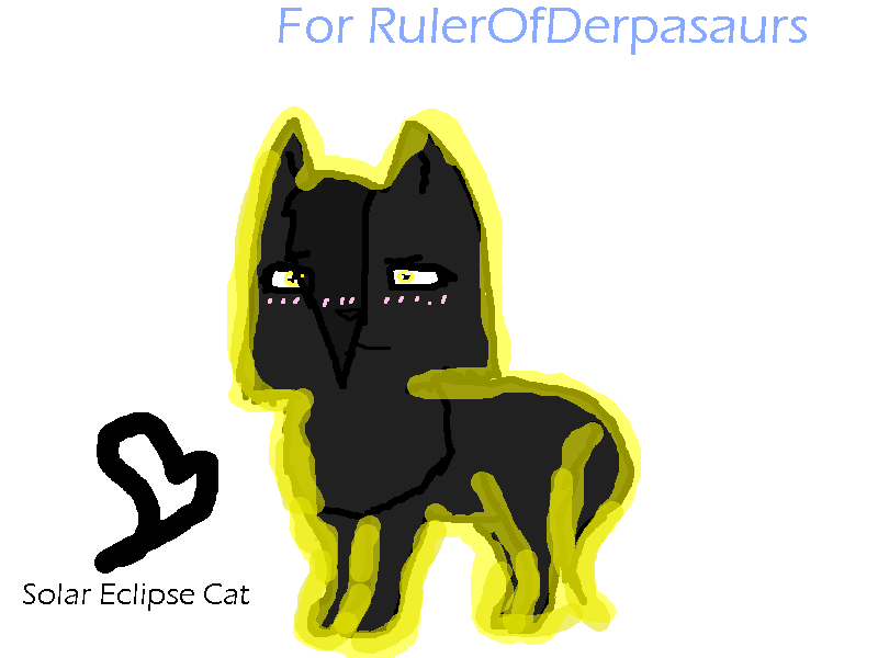 picture transparent library Solar Eclipse Cat OC DRAWING REQ by IceHasNoSanity on DeviantArt