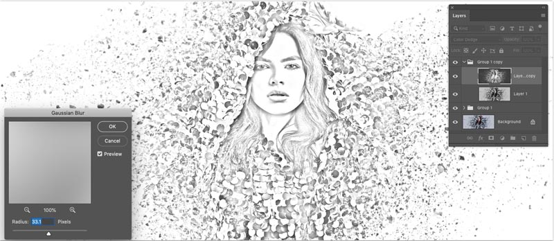png black and white How to Turn a Photo into a Pencil Drawing in Photoshop