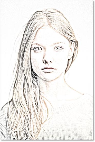 clip stock Portrait Photo To Pencil Sketch With Photoshop CS