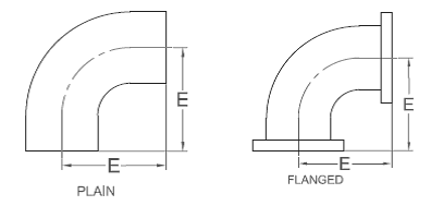 picture library stock Frp short long elbows. Drawing dimensions radius