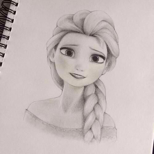 jpg black and white stock Beautiful drawing of frozen