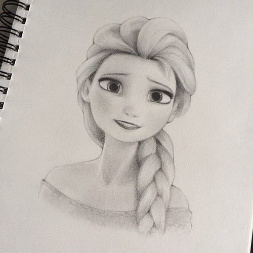 vector library stock Fan art disney frozen. Drawing elsa fandom