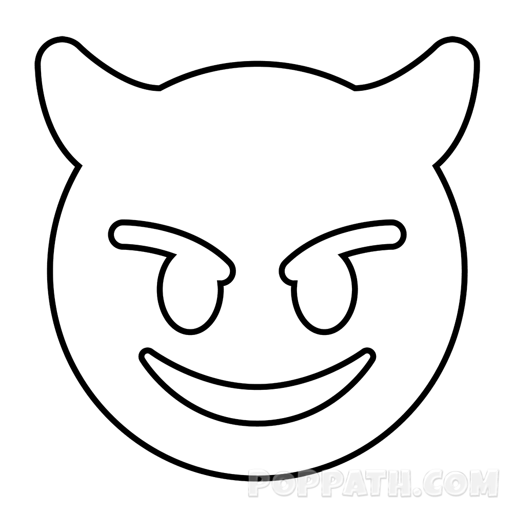 clip art download How To Draw A Face Horns Emoji