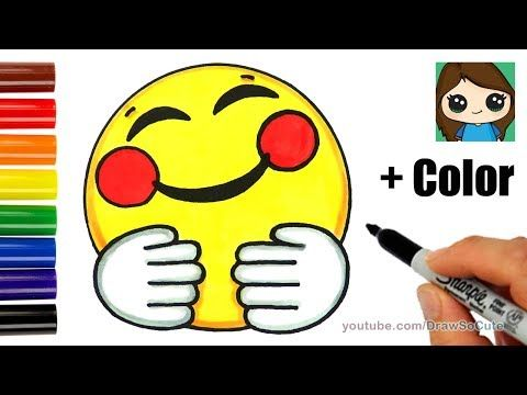image free stock cool How to Draw a Hugging Face Emoji Easy