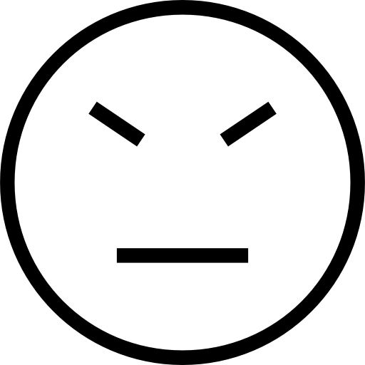 banner transparent library Stubborn face emoticon stroke symbol of straight lines of eyes and