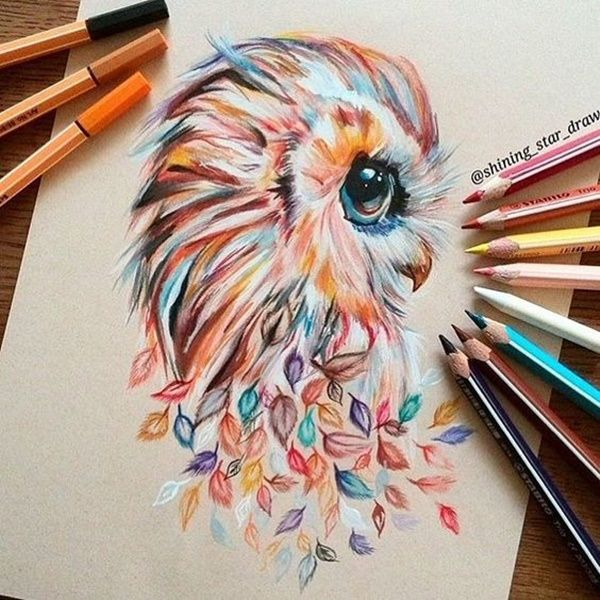 graphic library All drawing colored pencil.  creative and simple.