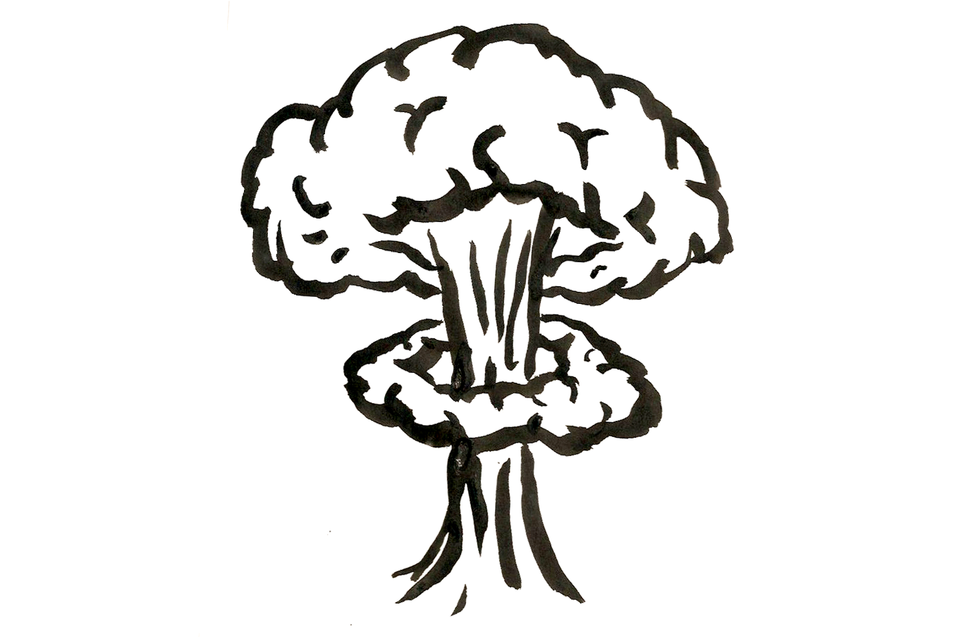 image royalty free Drawn explosions nuclear blast. Shroom drawing easy