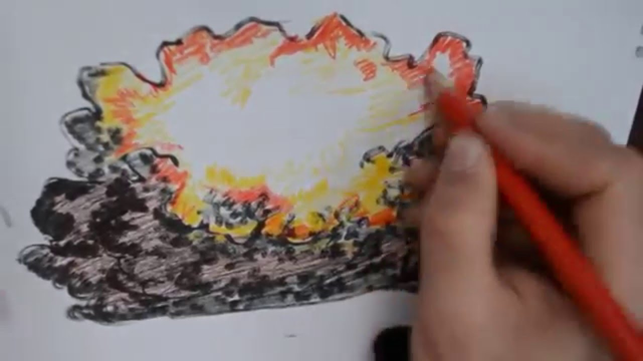 jpg royalty free download Drawing explosions color. How to draw explosion.