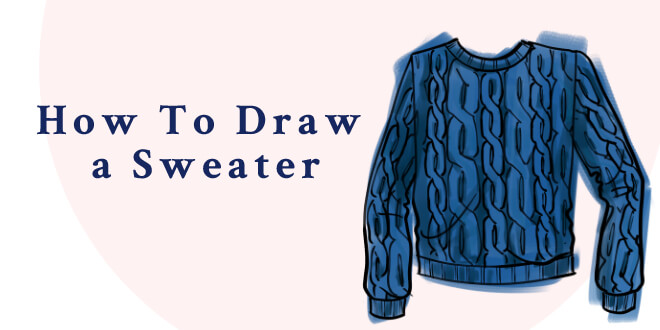 banner royalty free download Drawing sweaters fashion. How to draw a