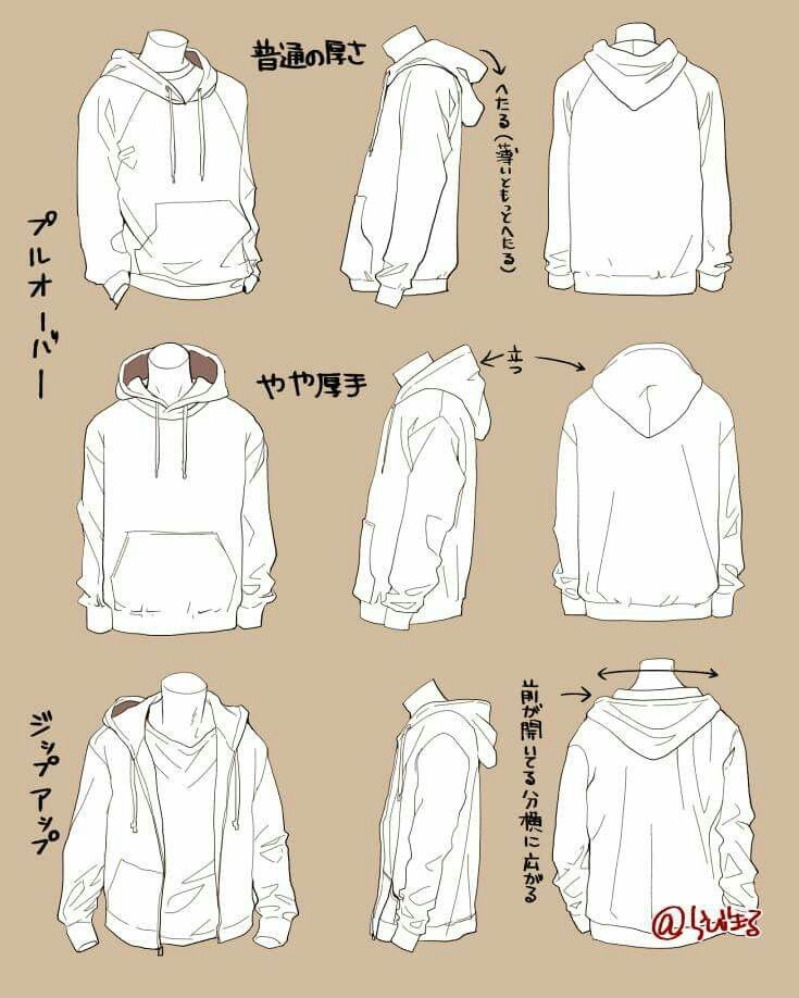 stock Baggy art in drawings. Drawing shirts jacket