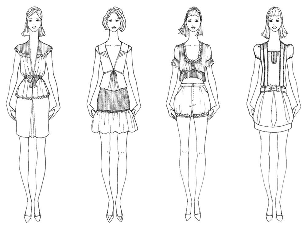 svg library download Fashion Line Drawings