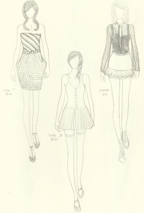 clip transparent download Fashion sketches how draw. Drawing outfits beginner