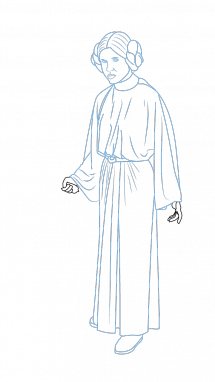 vector royalty free download How to Draw Princess Leia