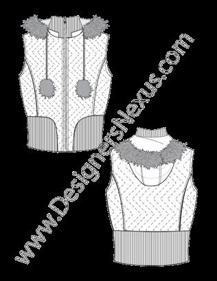 jpg royalty free download Vest Fashion Sketch V