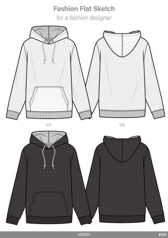 svg library download Drawing sweaters hooded sweatshirt. Hoodie fashion flat sketch