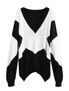 png transparent stock  oversized two tone. Drawing sweaters knit sweater