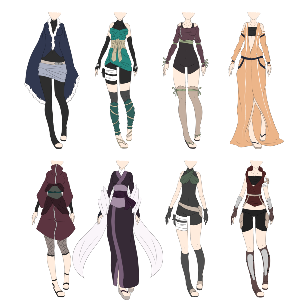 picture library library Drawing outfits female. Naruto outfit adoptables closed