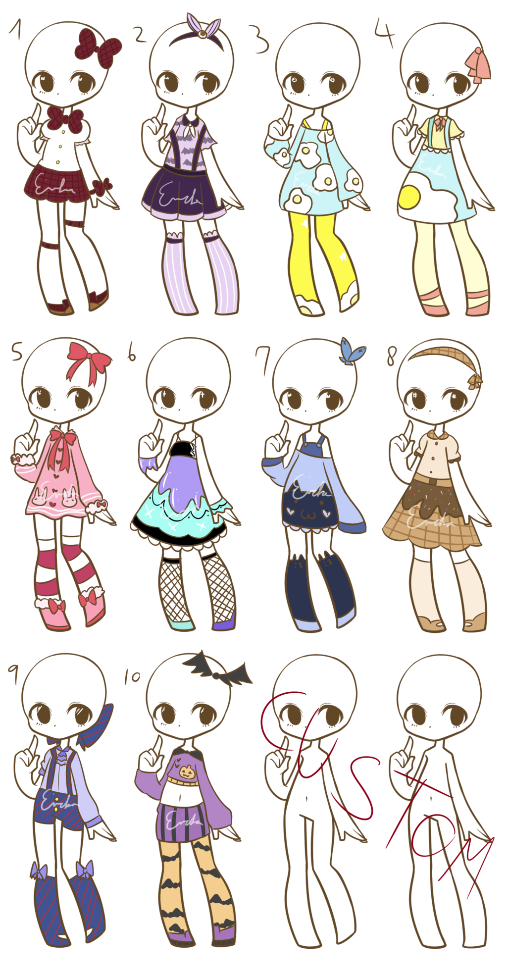 banner black and white stock Drawing outfits chibi. More fashion adopts closed
