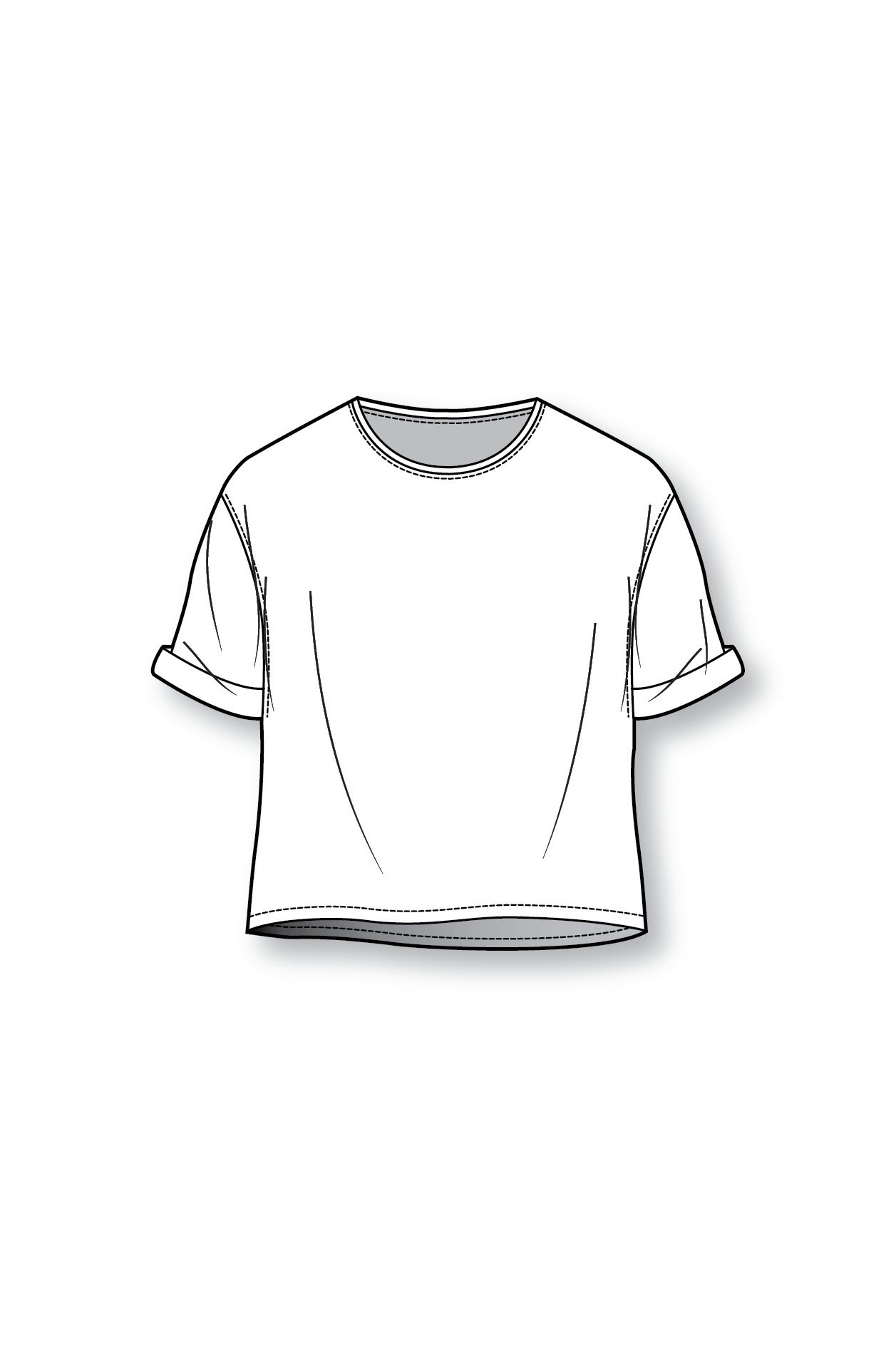 image black and white library Drawing shirts sketch. Shirt template at paintingvalley