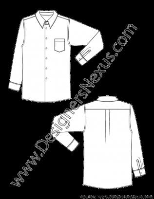graphic royalty free download Classic mens dress shirt. Vector clothing drawing man