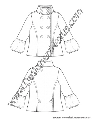 picture transparent library Fashion Flat Sketch V