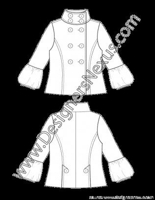 clipart transparent download Fashion Flat Sketch V