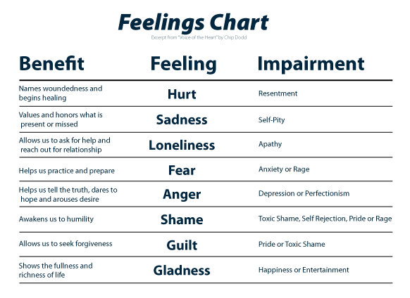 graphic library stock the feelings chart