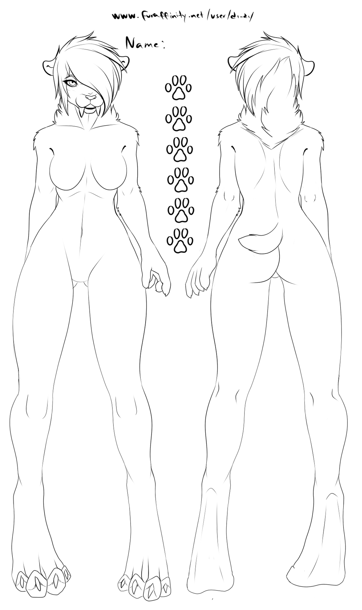 jpg black and white stock Free sabertooth ref female. Drawing females