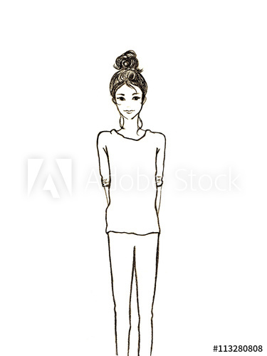 png library download Drawing females modern woman. Chic trendy women illustration