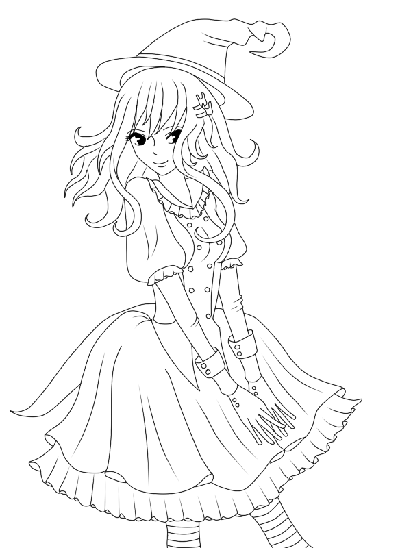 svg transparent library Juvia Witch Lineart by CandyPiie on DeviantArt