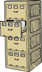 vector library download Filing Cabinet Drawing at GetDrawings