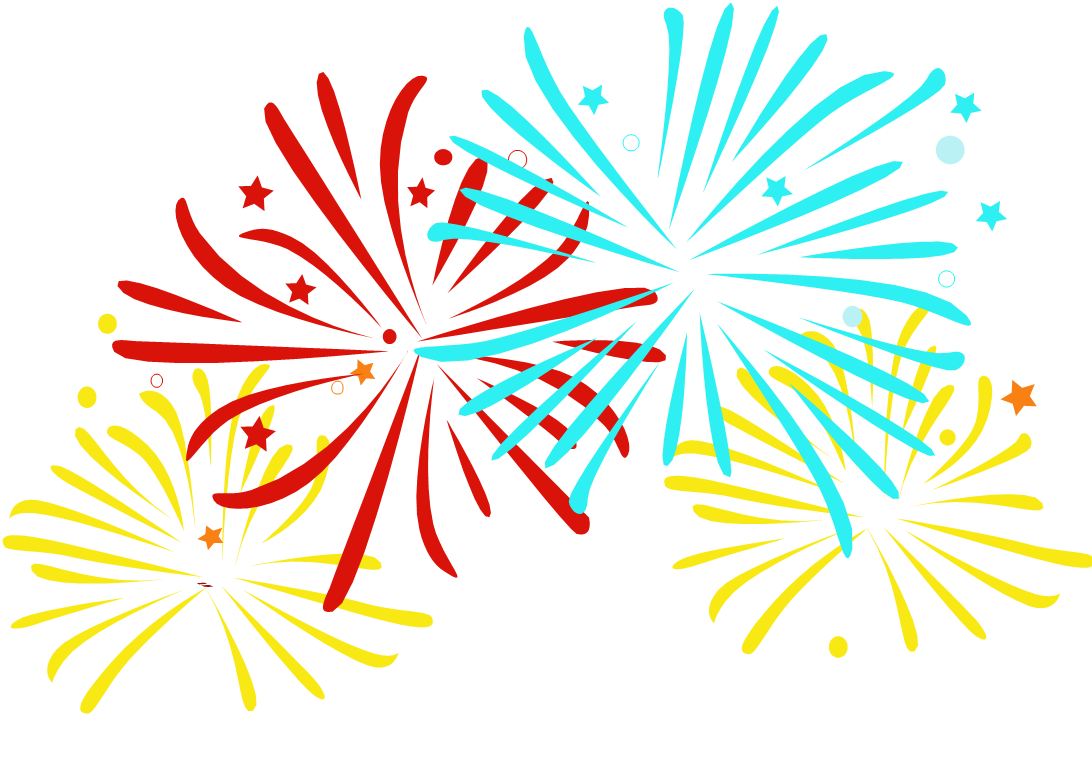 clip free library drawing firework celebration #111817485