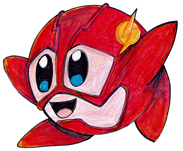clip transparent library KIRBY AS THE FLASH SPEED DRAWING by IDROIDMONKEY on DeviantArt