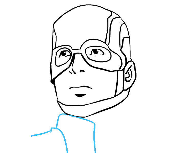 vector transparent library Captain America Face Drawing at GetDrawings